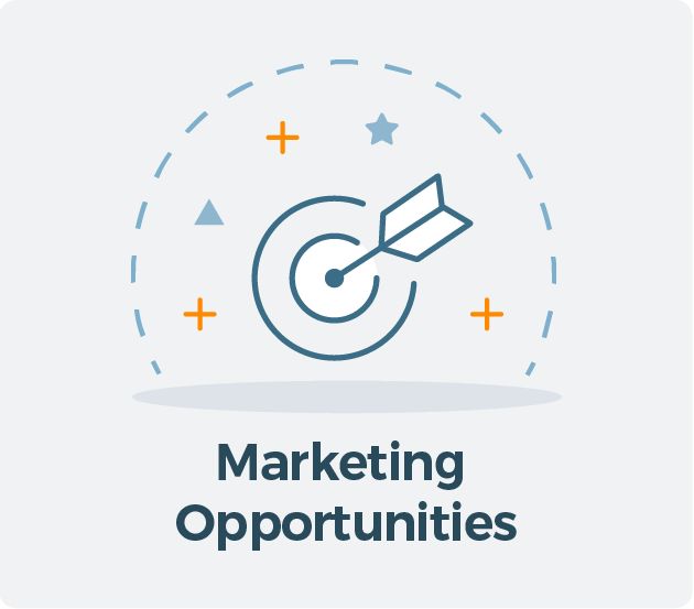 Marketing Opportunities for Allied CRA Membership Graphic