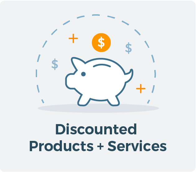 Discounted Products and Service for Allied CRA Membership Graphic