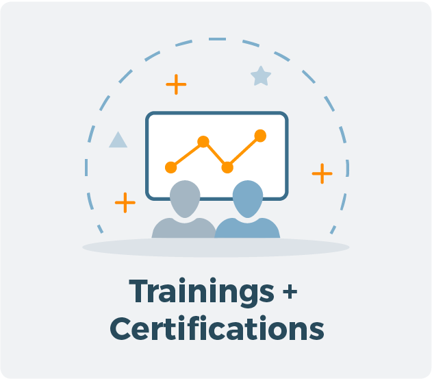 Learn more about Trainings + Certifications